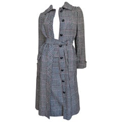 1970s Adele Simpson Wrap Coat and Matching Skirt