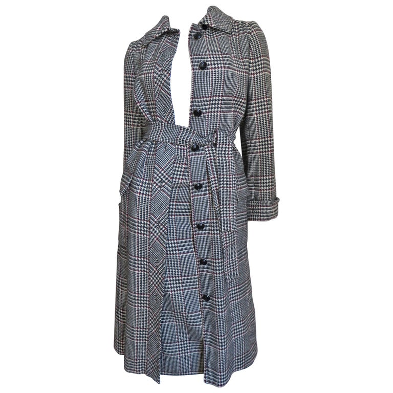 1970s Adele Simpson Wrap Coat and Matching Skirt For Sale