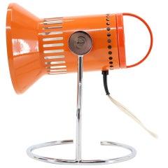 1970s Adjustable Orange Table Lamp, Czechoslovakia