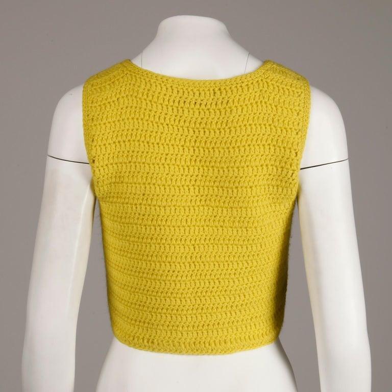 1970s Adolfo Vintage Knit Sweater Vest For Sale 1