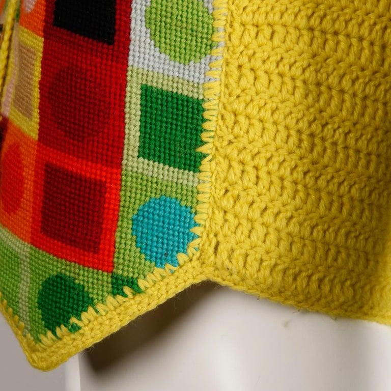 1970s Adolfo Vintage Knit Sweater Vest For Sale 2