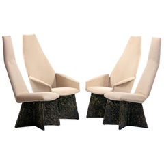 1970s Adrian Pearsall Brutalist Dining Chairs Set of 4