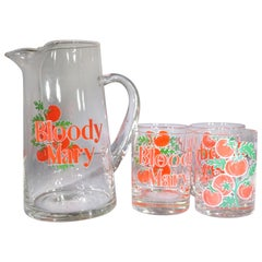 1970s American 5-Piece Bloody Mary Glassware Set by Culver