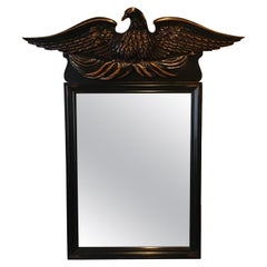 1970s Americana Style Hand Carved Wood Eagle Mirror