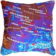 "Vintage Cushions ""Britannien"" Bespoke Luxury Silk Pillow, Made in London"