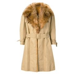 1970s A.N.G.E.L.O. Vintage Cult Fur Trench Coat