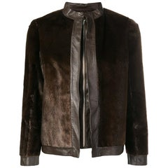 1970s A.N.G.E.L.O. Vintage Cult Leather And Fur Jacket