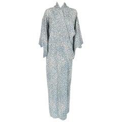 1970s A.N.G.E.L.O. Vintage Cult Light Blue Long Kimono