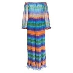 1970s A.N.G.E.L.O. Vintage Cult multicolor maxi dress