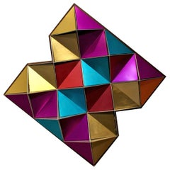 1970s Anodized Aluminium Three Dimensional Geometric Wall Art