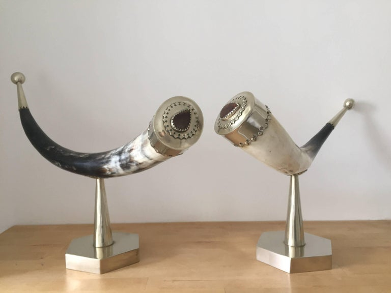 English 1970s Anthony Redmile Mounted Horns For Sale
