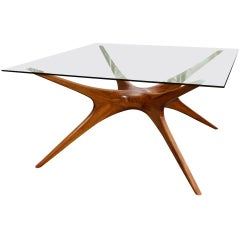 1970s Argentinian Dining Table with Spider Leg in Petiribi Wood