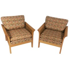 1970s Arne Norell Set of Two Rotang Lounge Chairs