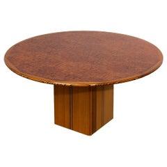 """1970s """"Artona"""" Afra & Tobia Scarpa Maxalto Italian Design Dining Round Table"""