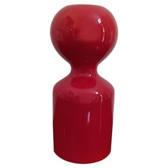 1970s Astonishing Space Age Red Vase by Gabbianelli, Made in Italy