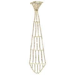 1970'S Austrian Crystal Necktie Brooch