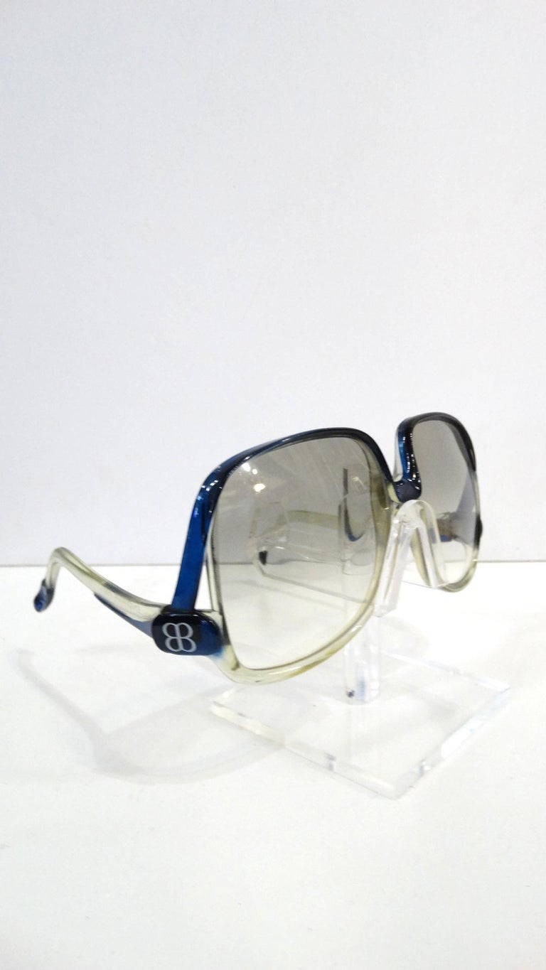 4d8f1c903b0d2 1970s Balenciaga Oversized Sunglasses For Sale at 1stdibs