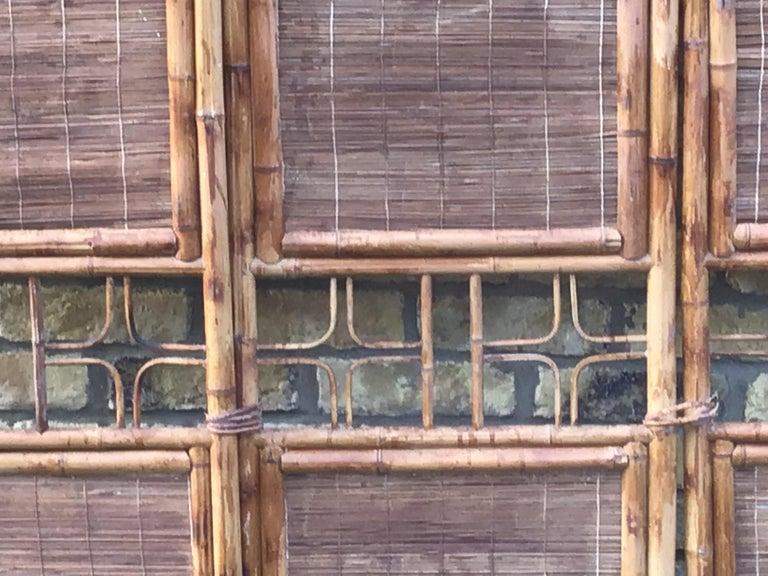 British 1970s Bamboo Screen/Room Divider