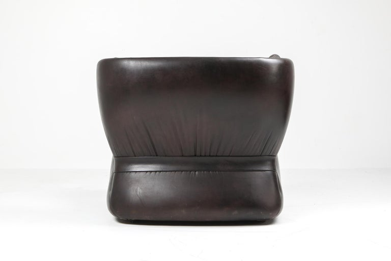 1970s Belgian Lounge Chair with Ottoman 'Pasha' by Durlet For Sale 4