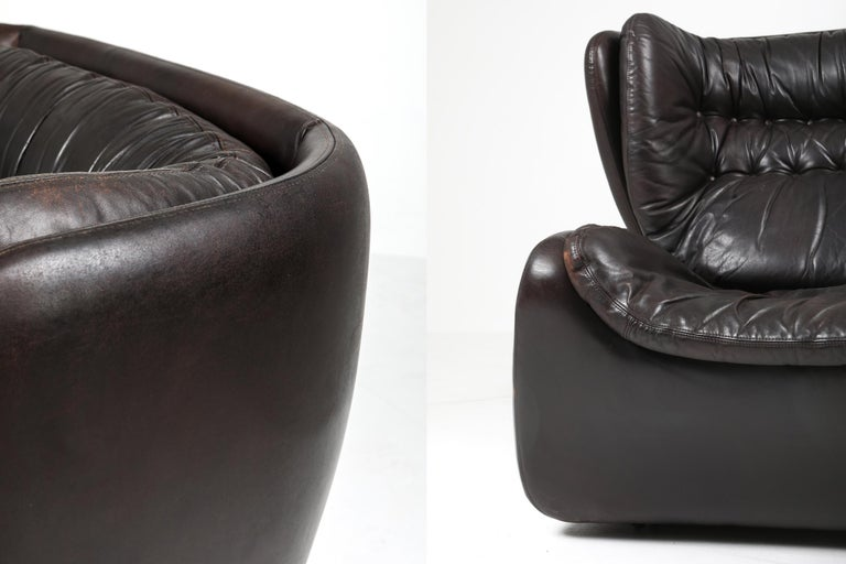 1970s Belgian Lounge Chair with Ottoman 'Pasha' by Durlet For Sale 5