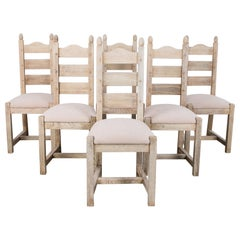 1970s Belgian Upholstered Dining Chairs, Set of Six