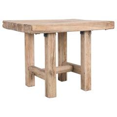 1970s Belgian Wooden Side Table