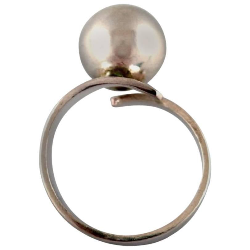 1970's Bengt Hallberg, Swedish Modernist Sterling Silver Ring