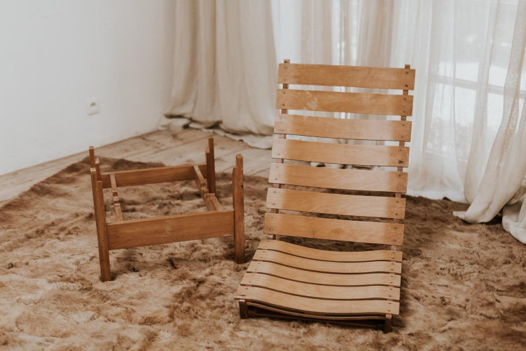 1970s Bentwood Lounge Chair For Sale 4