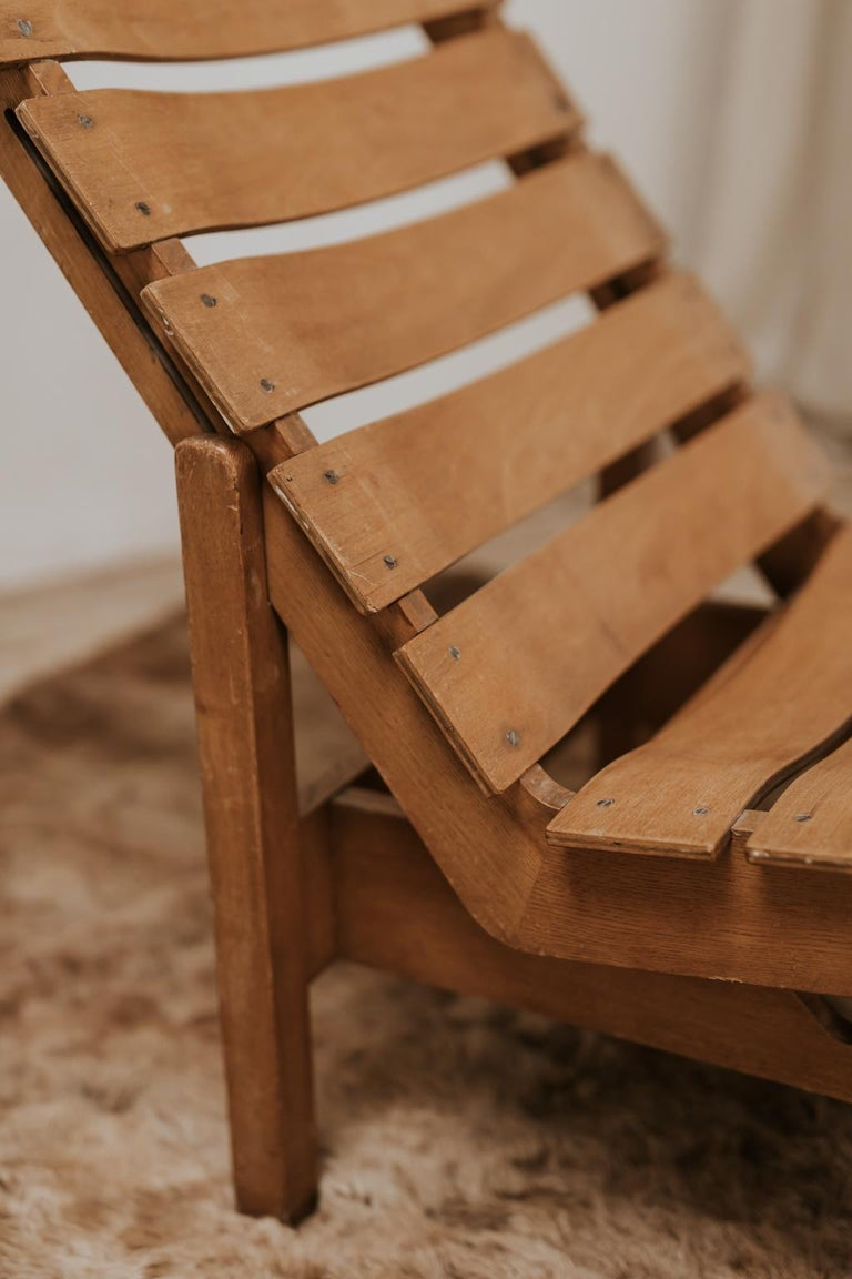 1970s Bentwood Lounge Chair In Fair Condition For Sale In Brecht, BE