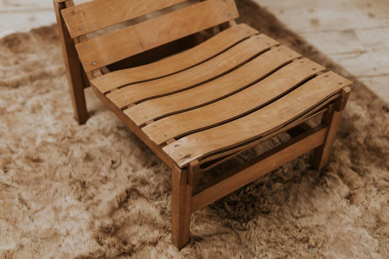 Wood 1970s Bentwood Lounge Chair For Sale