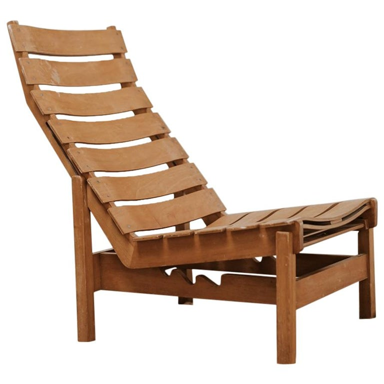 1970s Bentwood Lounge Chair For Sale