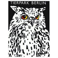 1970s Berlin Zoo Owl Germany Travel Poster Pop Art Design