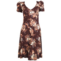 1970's BIBA floral printed dress with puff sleeves