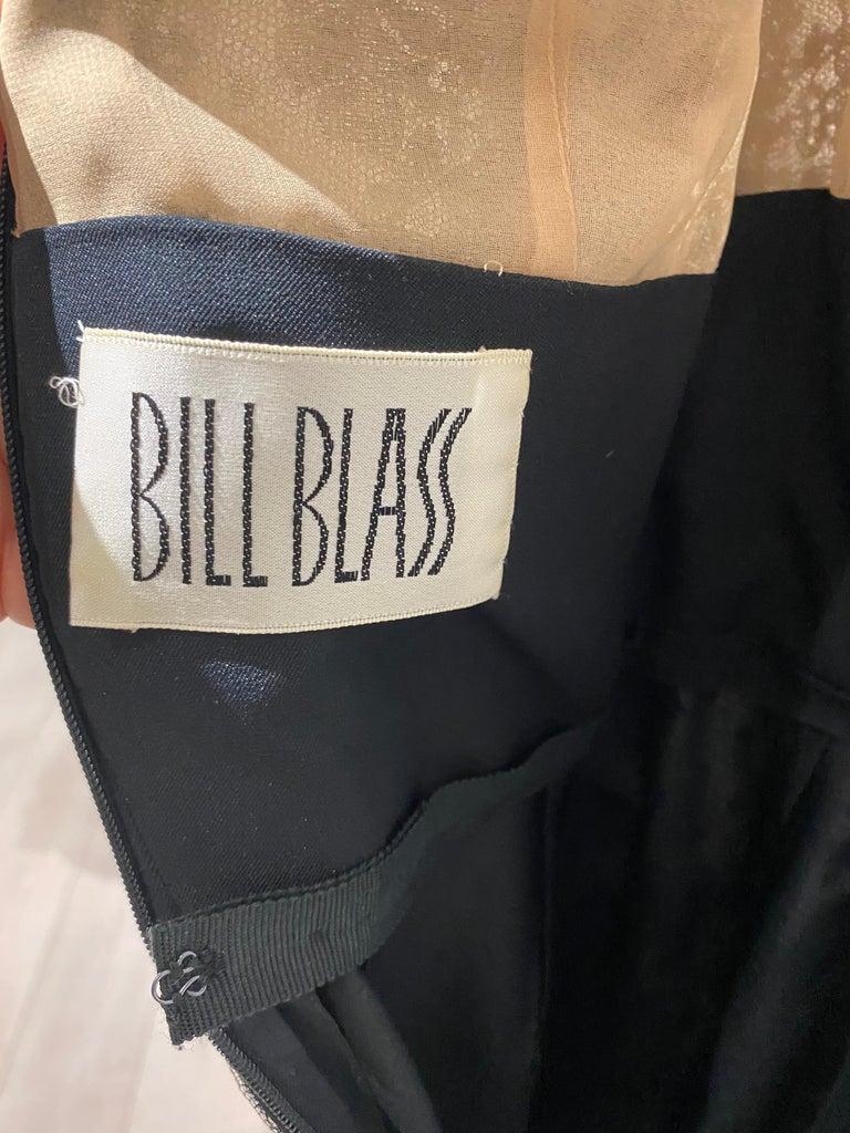 1970s BILL BLASS Black Long Sleeve Silk Dress For Sale 6