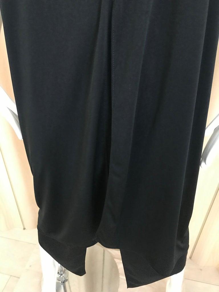 1970s Bill Tice Black Jersey Halter Disco Dress For Sale 2
