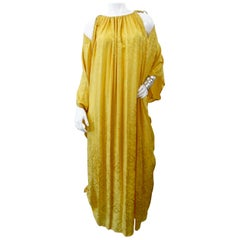1970s Bill Tice Yellow Silk Kaftan