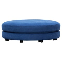 1970s Blue New Upholstery Ottoman by Milo Baughman