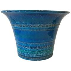 1970s Blue Rimini Flavia Montelupo Bitossi Vase