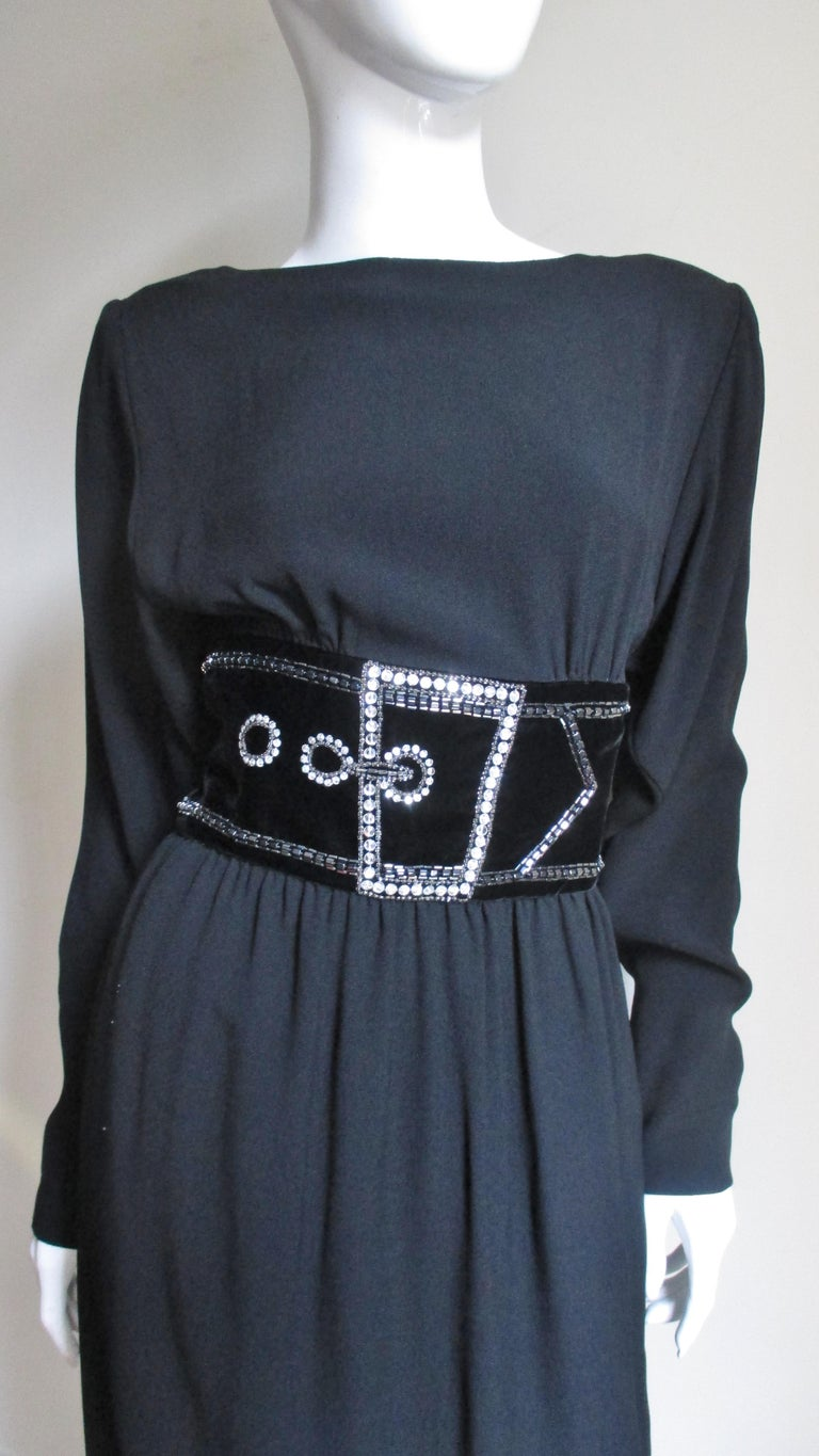 Bob Mackie Trompe L'oeil Dress 1970s In Good Condition For Sale In Watermill, NY