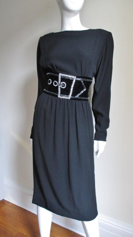 Bob Mackie Trompe L'oeil Dress 1970s For Sale 1