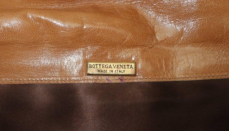 1970's Bottega Veneta Large Envelope Leather Clutch Handbag For Sale 6