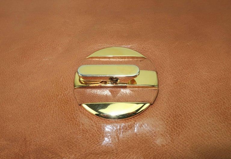 Women's 1970's Bottega Veneta Large Envelope Leather Clutch Handbag For Sale