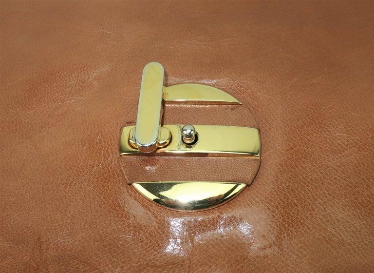 1970's Bottega Veneta Large Envelope Leather Clutch Handbag For Sale 1