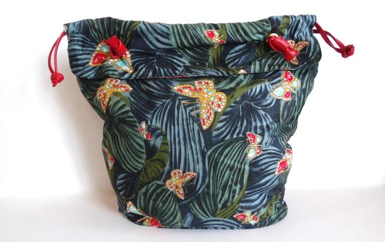1970s Bottega Veneta Rainforest Bucket Bag In Good Condition For Sale In Scottsdale, AZ