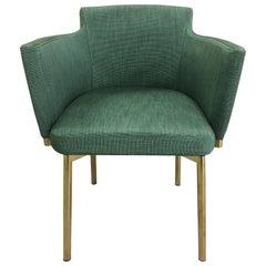 1970s Brass Italian Swivel Desk or Vanity Chair