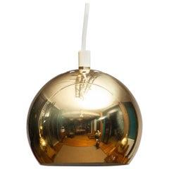 1970s, Brass Spherical or Globe Shape Swedish Pendant