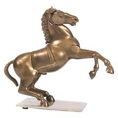 1970s Bronze Horse Sculpture by Miguel Berrocal