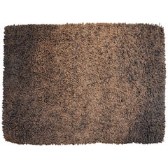 1970s Brown/Black Curly Carpet Dutch Design