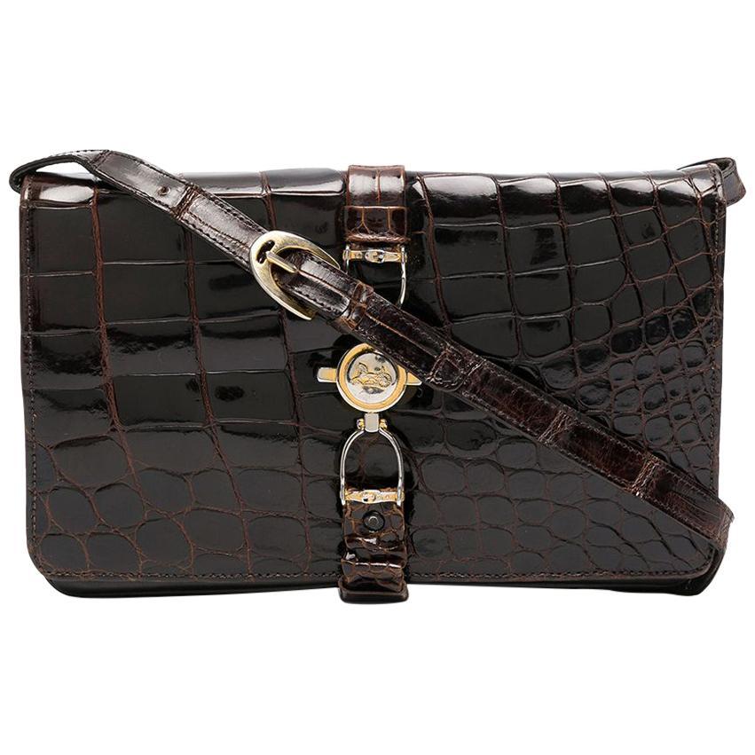 1970s Brown Celine Leather Trio Shoulder Bag