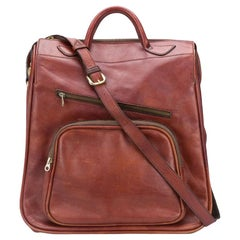 1970s Brown Leather Travel Bag